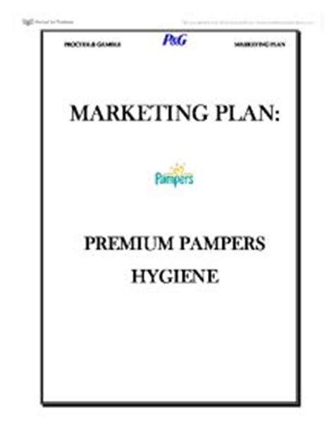 Pampers business plan